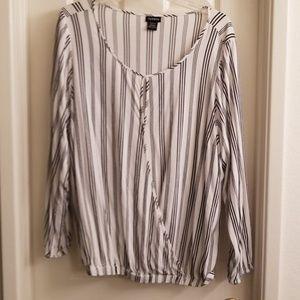 Torrid white with black stripes